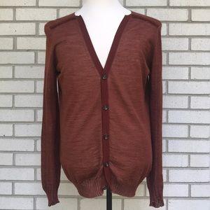 Burberry Prorsum cardigan wool silk Large Italy